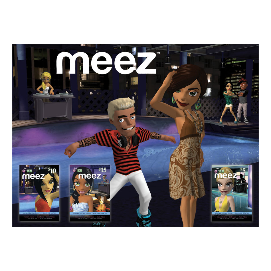 Meez Pre-paid Cards – Donnerwood Media Inc
